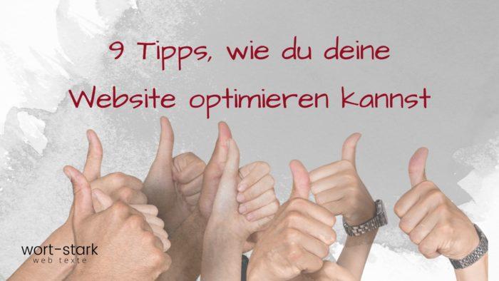 9 Tipps, wie du deine Website optimieren kannst