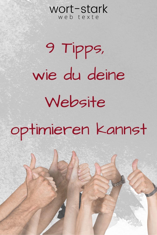 9 Tipps, wie du deine Website optimieren kannst-Pinterest
