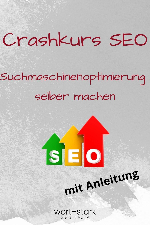 Crashkurs SEO - Suchmaschinenoptimierung selber machen-Pinterest