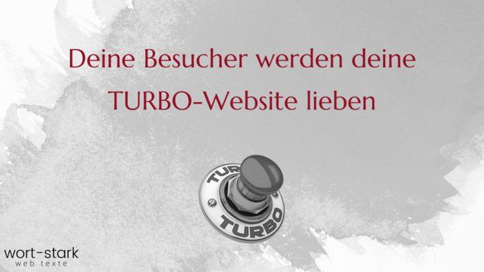 Deine Besucher werden deine Turbo-Website lieben