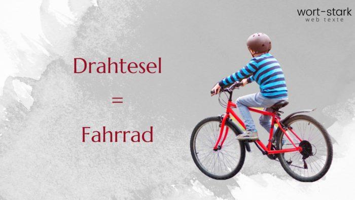 Verrückte Wörter Drahtesel Fahrrad