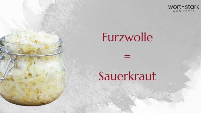 Verrückte Wörter Furzwolle Sauerkraut