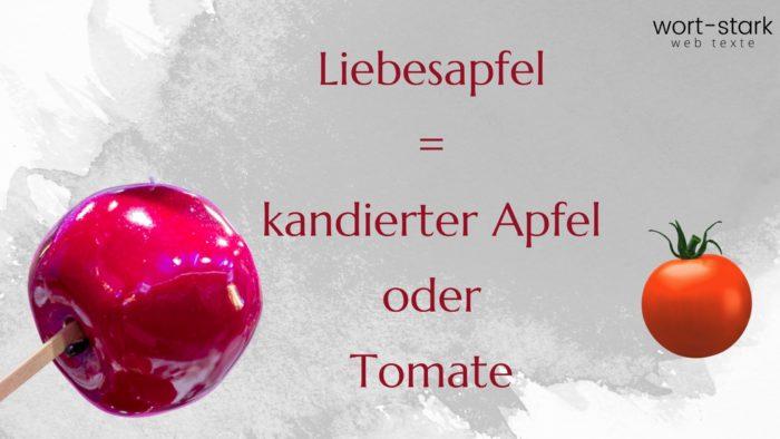 Verrückte Wörter Liebesapfel Tomate