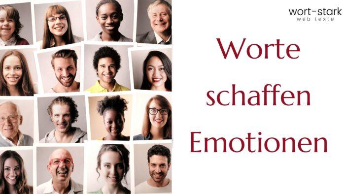 Worte schaffen Emotionen