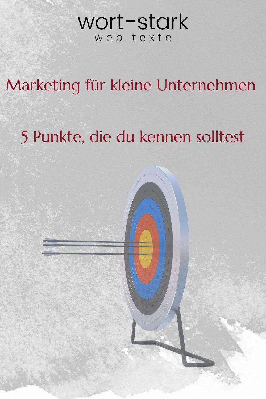 Marketing für kleine Unternehmen - 5 Punkte die du kennen solltest-Pinterest