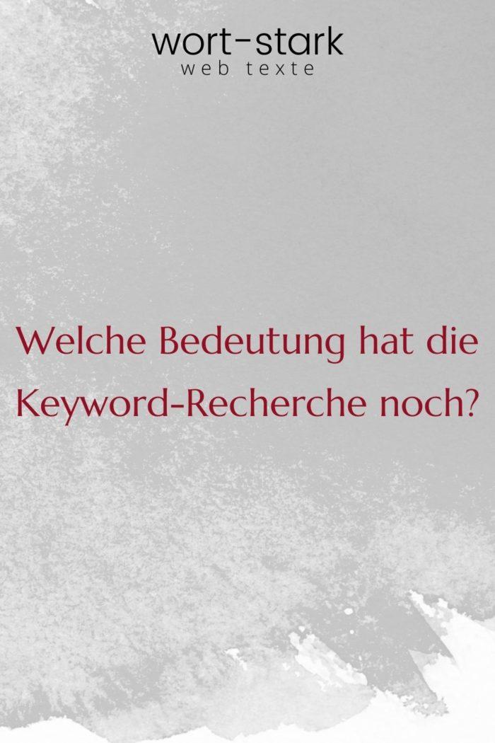 Welche Bedeutung hat die Keyword-Recherche noch-Pinterest