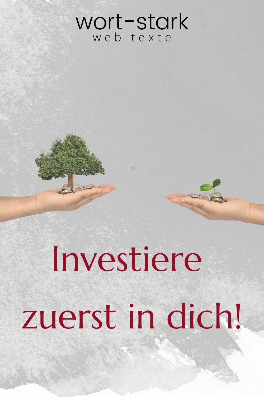 Investiere zuerst in dich-Pinterest