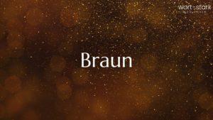 Unternehmensfarbe - Braun