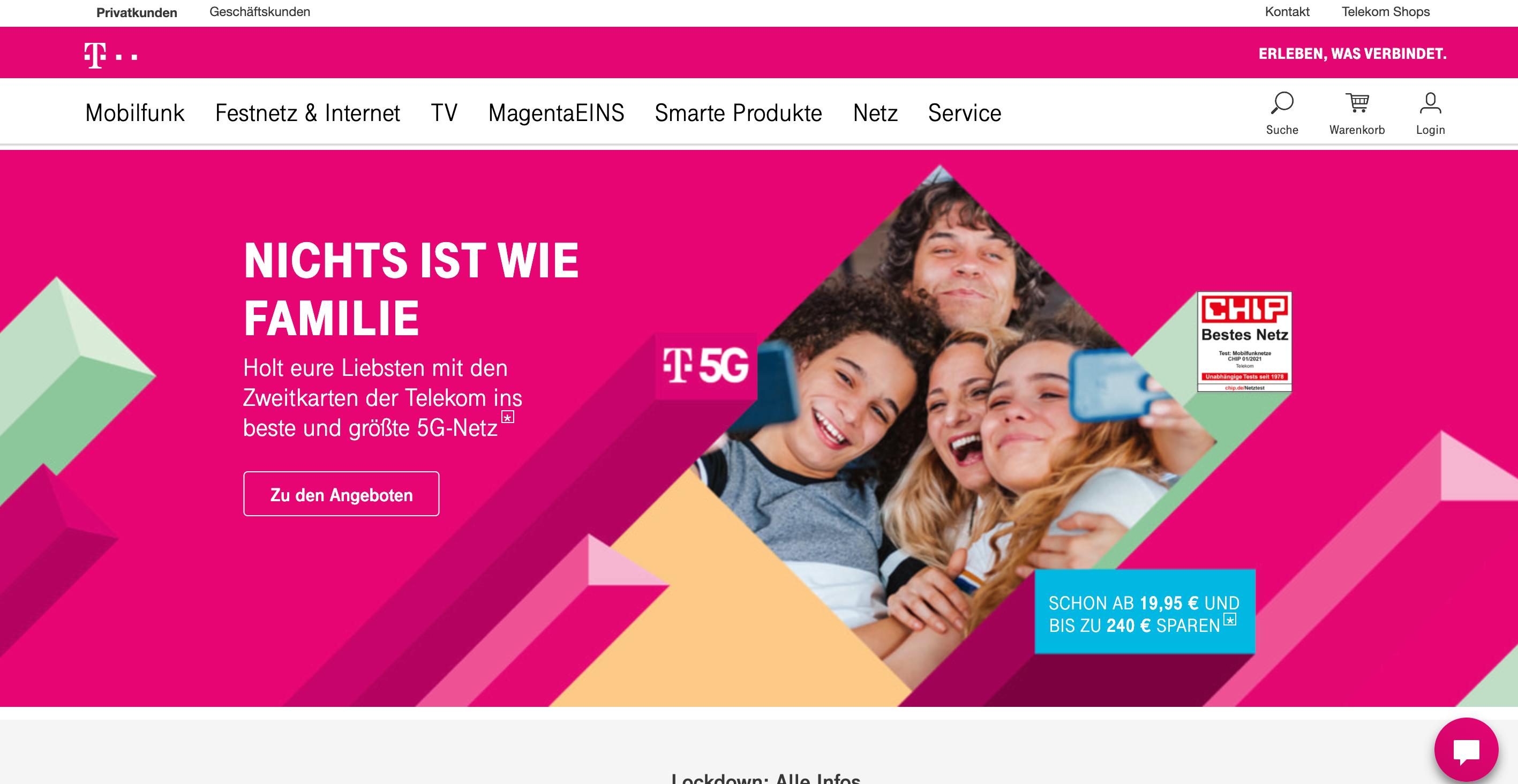 Unternehmensfarbe - Telekom Magenta
